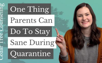 One Thing Parents Can Do To Stay Sane During Quarantine